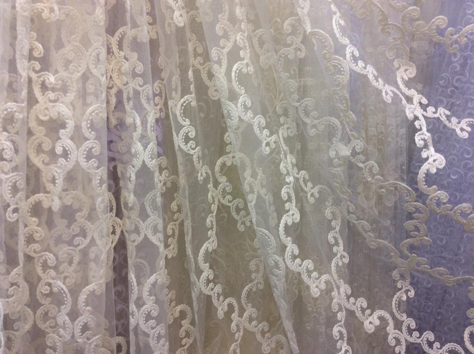 Турецкий тюль сетка с вышивкой фото